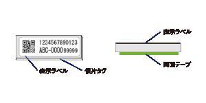表示ラベル、個片タグ、表示ラベル、両面テープ